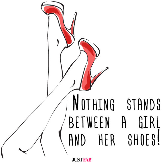 JustFab | Nothing stands betweena girl and her shoes! #quotes